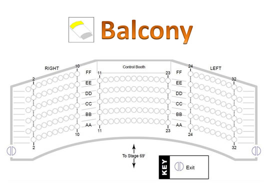 Palladium Theater Balcony seating chart