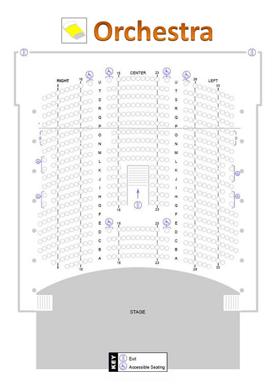 Palladium Theater Hough Hall Orchestra seating chart